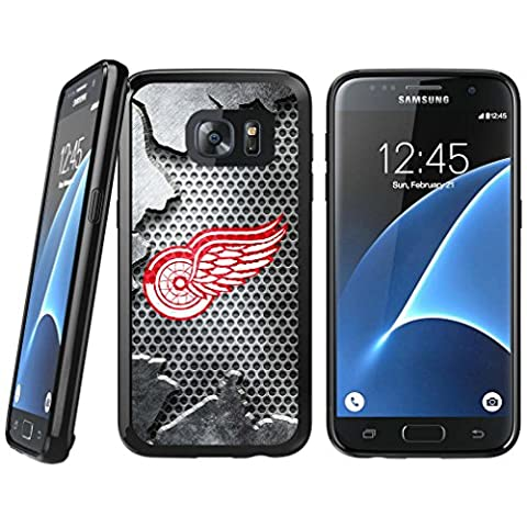 Samsung Galaxy S6 TPU Case, Detroit Red Wings Samsung Galaxy S6 Rubber Tough Backplate Cover - Backplate Wing