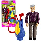 Fisher Price Grandfather Loving Family Grandpa Doll Figure - Caucasian