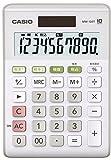 カシオ スタンダード電卓 W税率設定・税計算 ミニジャストタイプ 10桁 MW-100T-WE-N ホワイト