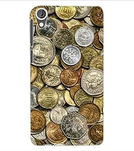 ColourCraft Antique Coins Design Back Case Cover for HTC DESIRE 820