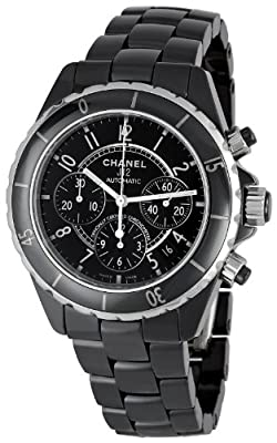 Chanel Men's H0940 J12 Sport Black Dial Watch