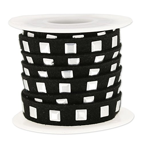 cordon-plano-imitacion-gamuza-cloute-10-mm-negro-plateado-x3m