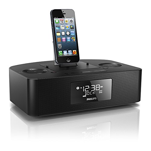 philips aj7050d 37 docking station for ipod iphone ipad with lightning connector black. Black Bedroom Furniture Sets. Home Design Ideas