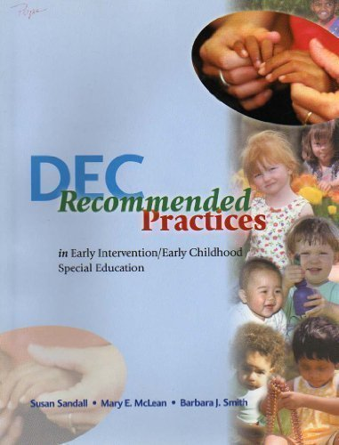 Dec Recommended Practices in Early Intervention/Early...