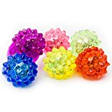Fun Central I431 LED LIght Up Jelly Bumpy Rings - Assorted 24ct