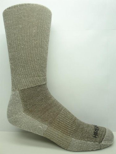 3 Pair Super-wool Hiker GX Merino Wool Hiking Socks (Mens (8-12 Shoe), Taupe)