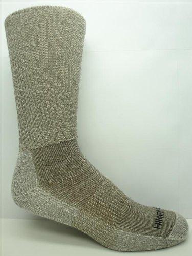 3 Pair Super-wool Hiker GX Merino Wool Hiking Socks (Mens (8-12 Shoe), Taupe)