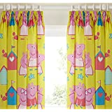 Character World 54-inch Peppa Pig Seaside Curtains, Multi-Color