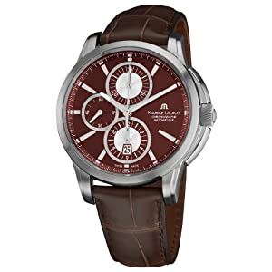 Maurice Lacroix Men's PT6188-SS001730 Pontos Pontos Chronograph Brown Strap Watch