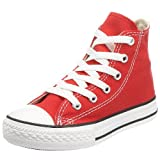 Converse All Star Chuck Taylor Youth Hi Classic Red Trainers, UK 11
