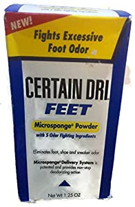 Certain Dri Feet, Microsponge Powder-1.25 oz.