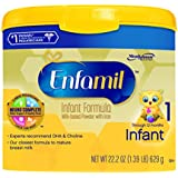 Enfamil Infant Formula Milk-Based with Iron, Reusable Tub, 22.2 Ounce (Packaging May Vary)