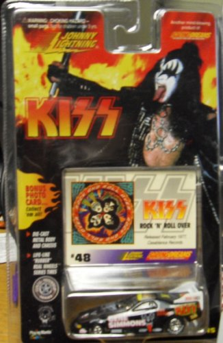 Johnny Lightning Kiss Gene Simmons Die Cast Car with Bonus Photo Card # 48 - 1