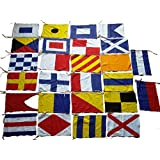 Marine Product - Maritime Signal Code Flag Set - 100% Cotton -Set of Total 26 Flag