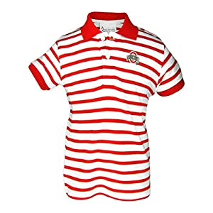 Ohio state buckeyes stripe golf toddlers shirt for Ohio state golf shirt
