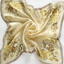 100% Silk Hand Painting Fashion Square Scarf