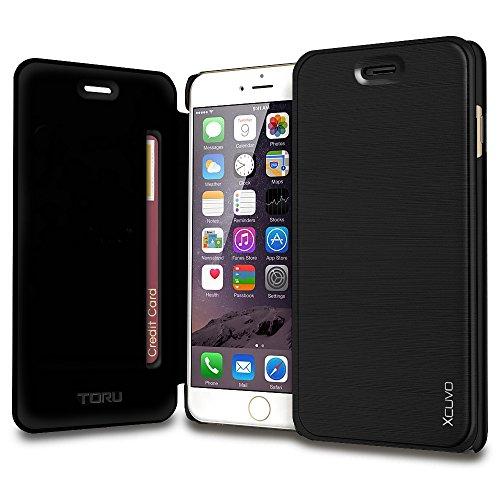 watch 6cc0c 2eecf iPhone 6S Case, TORU [Xcuvo] Slim Fit Wallet [Black] Flip - Import ...