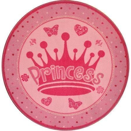 Pink Accent Rug - This Round Pink Princess Rug is Perfect for a Girl's (Child, Baby or Toddler) Bedroom, Bathroom or Nursery. Stain and Soil-resistant and No Rug Pad Needed! by Mainstays - 1