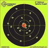 "10 Pack - 8"" Bullseye Splatterburst Target - Instantly See Your Shots Burst Bright Florescent Yellow Upon Impact!"