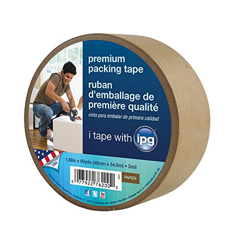 Intertape 9341 Kraft Paper Flatback Carton Sealing Tape, 1.88-Inch x 60-Yard (Paper Packaging Tape compare prices)