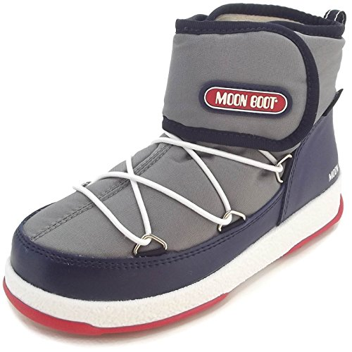 Moon Boot by Tecnica W.E. Jr Strap WP 34050900003 Kinder Winterstiefel, grau/navy/rot, Gr. 35 EU / 2.5 UK