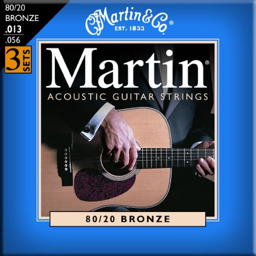 Martin M150 80/20 Acoustic Guitar Strings, Medium