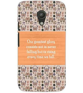 MOTOROLA MOTO G2 QUOTE Back Cover by PRINTSWAG