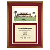 Arizona State University Diploma Frame with ASU Lithograph Art Print ~ Old School Diploma...