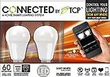 TCP Connected Smart LED Light Bulb Starter Kit - Gateway plus 2 wireless A19 Soft White (2700K) LED Light Bulbs