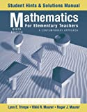 img - for Mathematics for Elementary Teachers, Student Hints and Solutions Manual: A Contemporary Approach book / textbook / text book