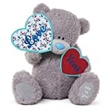 Me to You 18-inch Tatty Teddy Bear Holding Heart Shaped Love You Banners (Grey)