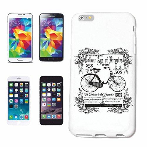 """Handyhülle iPhone 5 / 5S """"DAMEN FAHRRAD HOLLAND RAD FAHRRADFAHREN FAHRRADSATTEL VINTAGE FAHRRAD MOUNTAINBIKE FAHRRADREPARATUR RADRENNSPORT FAHRRADTOUR BIKESHIRT RIDE"""" Hardcase Schutzhülle Handycover Smart Cover für Apple iPhone in Weiß"""