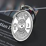 Evana 50 Years Calendar Key Ring Chain Keyring Key Chain-silver