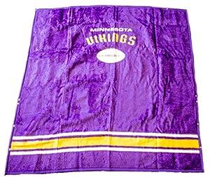 Buy NFL Licensed Minnesota Vikings 50x60 Biederlack Stadium Fleece Throw Blanket With Snaps by Biederlack