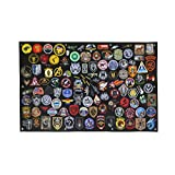 Tactical Patch Display Panel Holder Board for Military Army Combat Morale Uniform Hook & Loop Emblems, 43 Inches x 27.5 Inches (Large), No Patches Included (Color: R - Patch Display Panel, Tamaño: 43