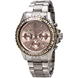 Michael Kors MK5870 Women's Everest Silver Tone Glitz Stainless Steel Bracelet Chronograph Watch
