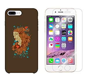 Snoogg Beautiful Lady Combo Designer Protective Back & Shatter Proof Tempered Glass For APPLE IPHONE 7 PLUS