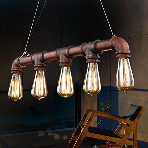 Pipe Light Fixture - Hanging island light fixture
