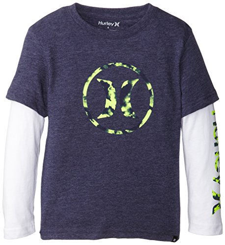 Hurley Little Boys' Air Slider, Midnight Navy Heather, 6 back-497342