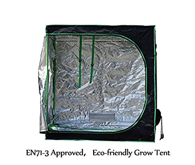 """Quictent ? 48"""" x 24"""" x 48"""" Upgraded EN71-3 Approved Grow Tent Eco-friendly Reflective Mylar Hydroponic Dark Room Box"""