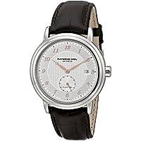 Raymond Weil 2838-SL5-05658 Maestro Steel Brown Leather Mens Watch (Silver Dial)