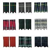 Tartanista Plain & Tartan Royal Stewart Black Watch Many More Kilt Sock Flashes