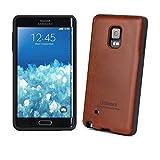 [Tridea] Anti-Shock Samsung Galaxy Note Edge Case Premium Leather [Brown] TPU Case with Hidden Card Storage for...