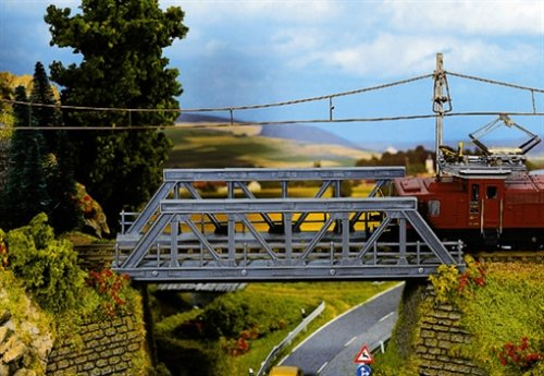 Noch - 21330 - Modélisme Ferroviaire - Bâtiment - Pont À Assembler - 18 X 65 X 45 Cm