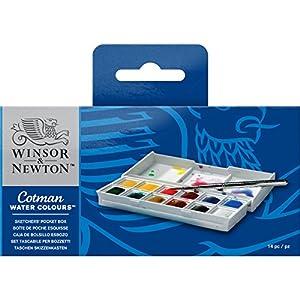 Winsor & Newton Cotman Water Colour Sketchers' Pocket Box 14 pieces/12 colors