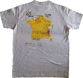 T-shirt Tour de France - Parcours des Etapes 2012 - Collection officielle - Cyclisme - Tee shirt adulte