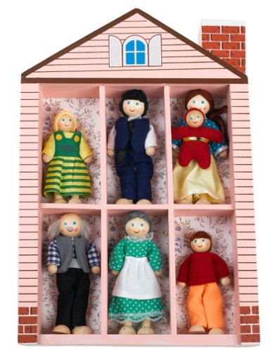 Melissa & Doug Wooden Family Doll Set