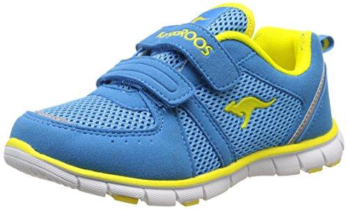 KangaROOSNara - Scarpe Sportive Indoor Unisex - Bambini , Blu (Bleu (Blue/Acid Yellow 417)), 34