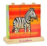 Eichhorn 100003623 - Holz-Bilderwürfel-Puzzle - 9 Würfel - 4 Motive