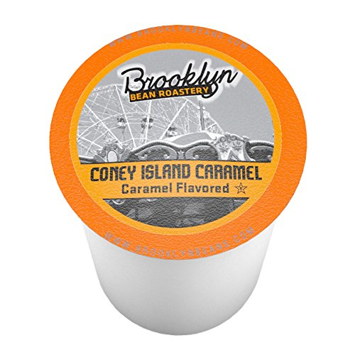 Brooklyn Bean Roastery Single-cup Coffee for Keurig K-cup Brewers, Coney Island Caramel, 40-count